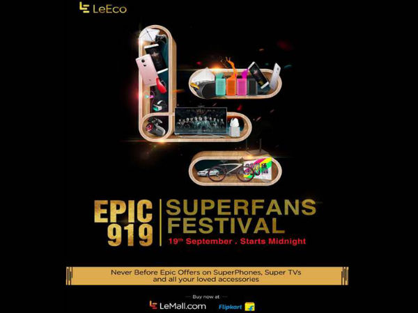 LeEco EPIC 919 SuperFans Festival will Happen on September 19 in India