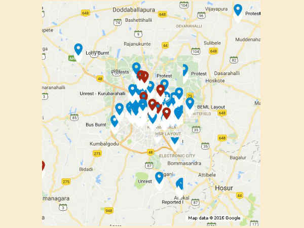 HERE'S How to Find Out which Area in Bangalore is Facing Unrest