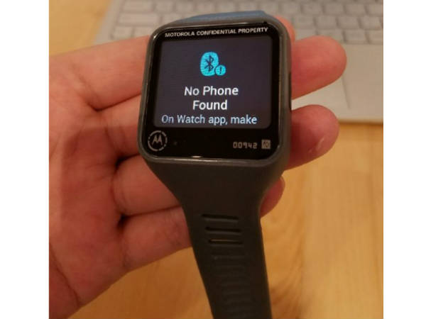 Motorola's New Smartwatch Featuring Rectangular Display Leaks Online
