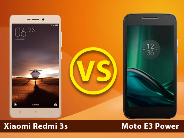 Motorola Moto E3 Power vs Xiaomi Redmi 3s