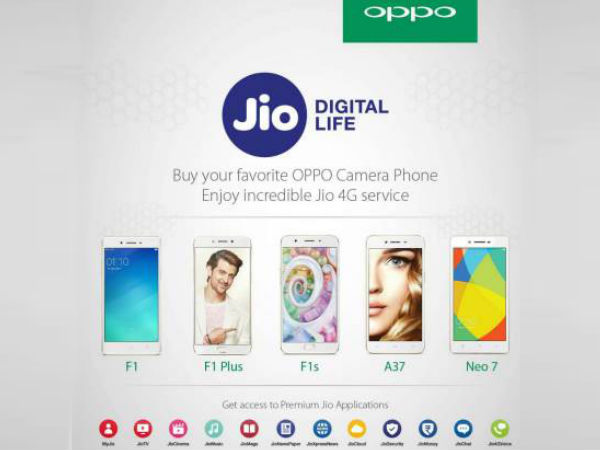 Oppo Smartphones Get Reliance Jio Support, Enjoy Welcome Offer