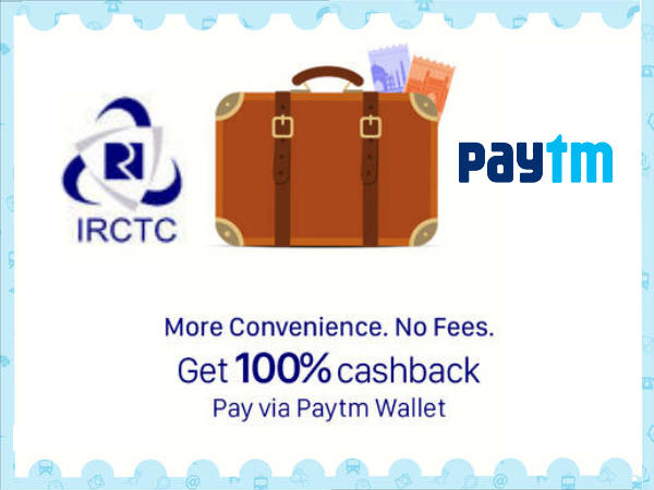 Now, You Can Book Train Tickets From IRCTC Using Paytm