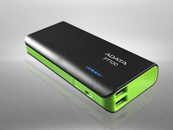 ADATA PT100 10000mAH Power Bank (Black-Green)