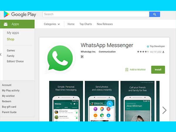 Step 3: Reinstall WhatsApp from Google Play Store