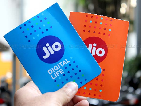 Free subscription to Jio apps