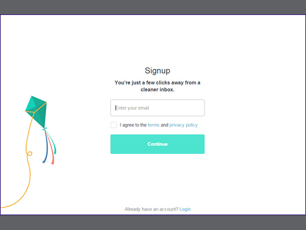 Step 2. Signup with Unroll.me