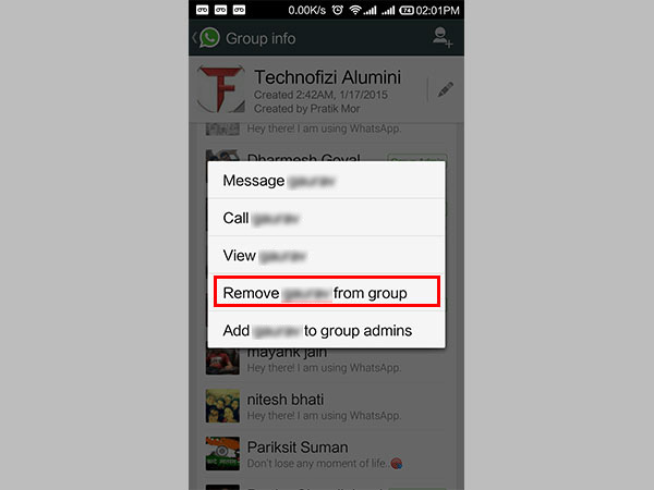 Remove Admin from A WhatsApp Group