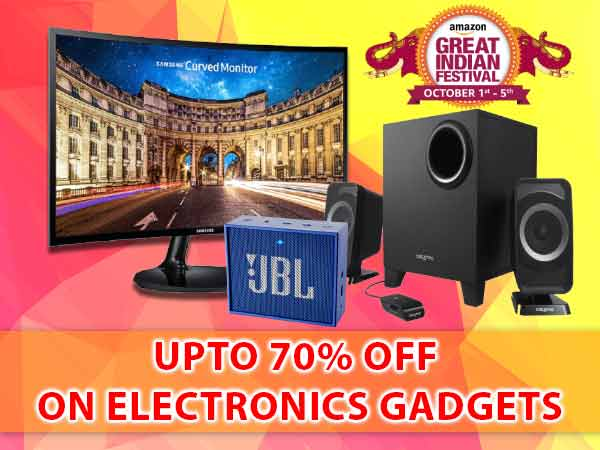 Amazon Great India Sale Deals: Top 10 Electronic Gadgets Up to 70% Off