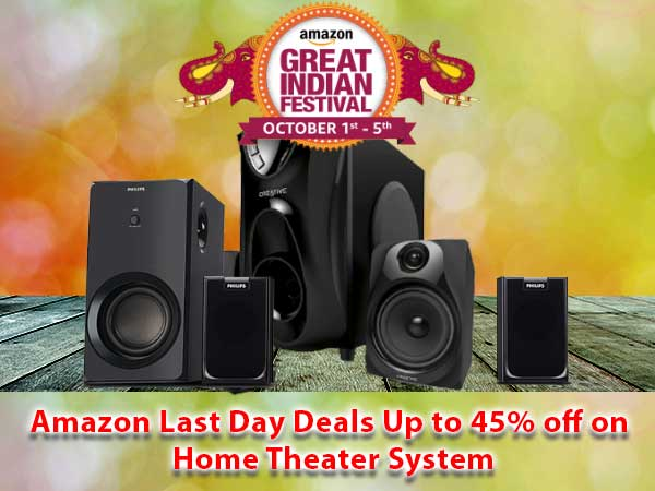 Amazon Last Day Offers: Up to 45% Off on Home Theater System