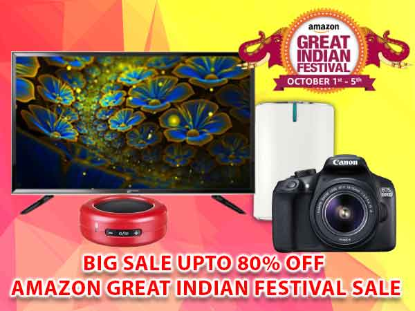 Big Sale Up to 80% Off Amazon Great Indian Festival Sale