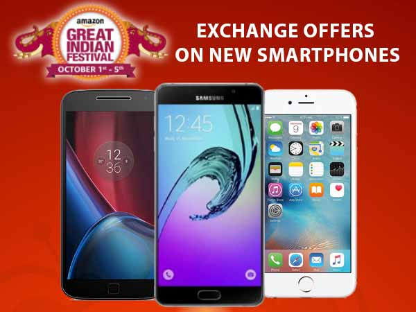 Amazon Great Indian Sale Day 3: Exchange Offers on New Smartphones