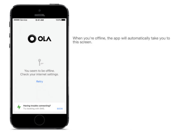 Book a Cab Without Internet With the New Ola Offline Service