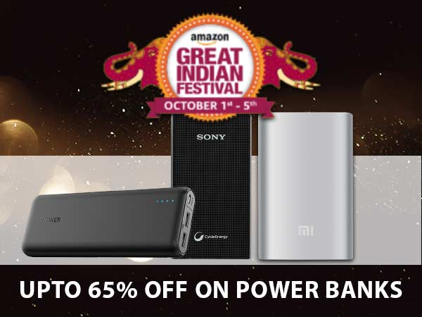 Amazon Great Indian Sale Day 4 Offers: Deals on Power Banks (65% Off)