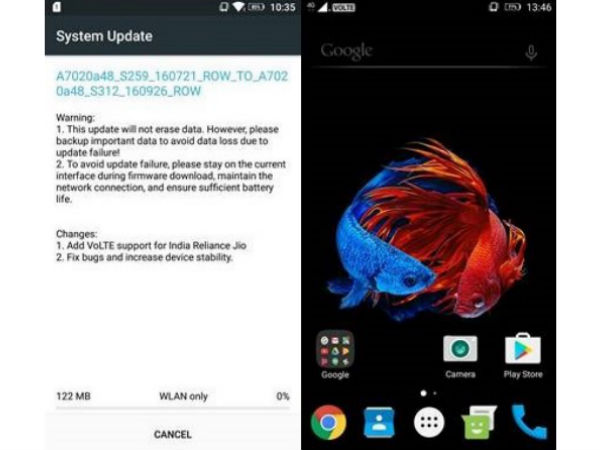 Latest Lenovo K5 Note OTA Update Brings Support for Reliance Jio