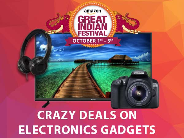 Amazon Great Indian Sale Offers: Crazy Deals on Electronic Gadgets