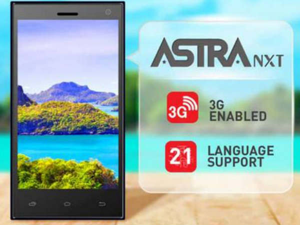 Ziox Launches Astra NXT Smartphone With Support for 21 Languages