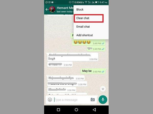 how to delete contacts from messenger android