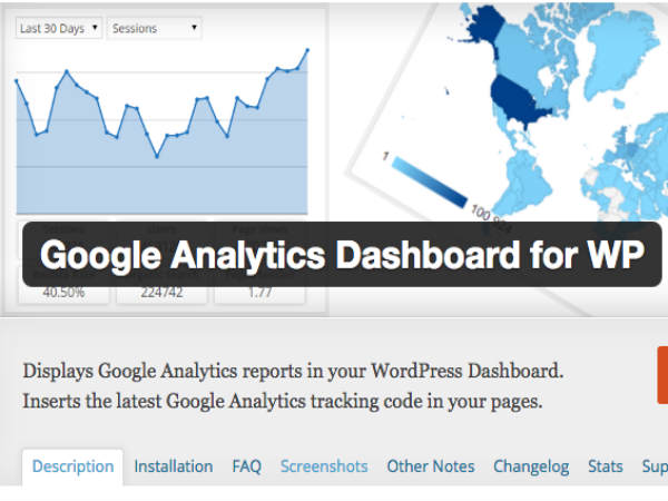 Look for Google Analytics Dashboard