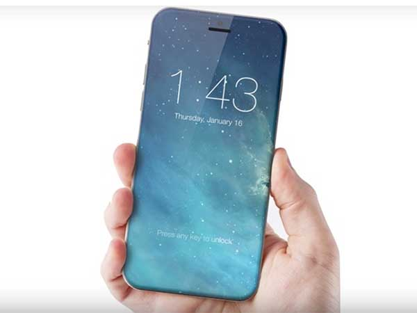 Curved glass bezel-less display, no home button