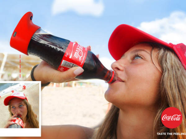 Coca-Cola bottle that clicks a selfie in a jiffy