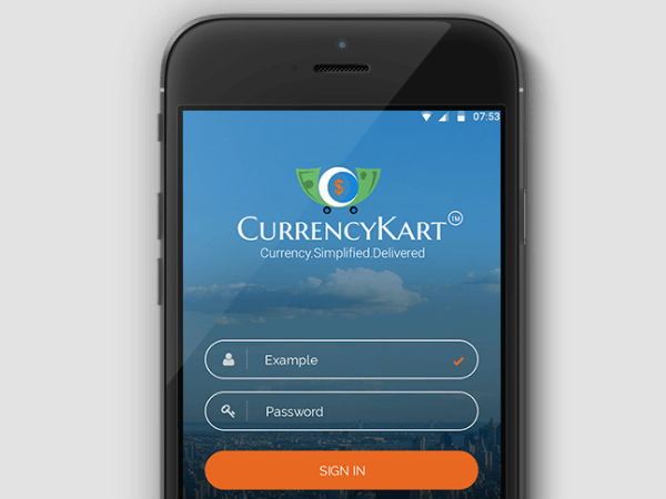 Buy or sell foreign currency online with this app