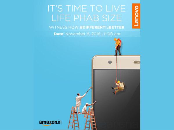 Lenovo Phab 2 Plus Coming to India on November 8