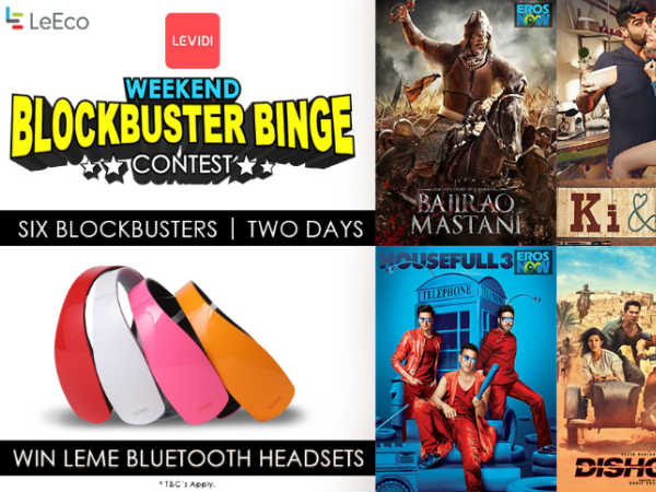 LeEco announces #WeekendBlockbusterBinge Contest