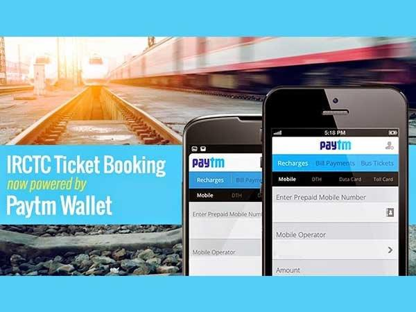 You Can Book IRCTC Tickets Via Paytm, JioMoney, Airtel Money, eWallets