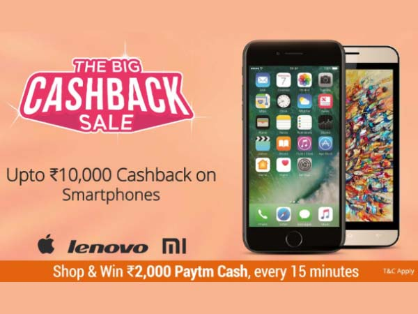 Avail up to Rs. 10,000 Cashback on Apple iPhone 7, 6s, and 6 on Paytm