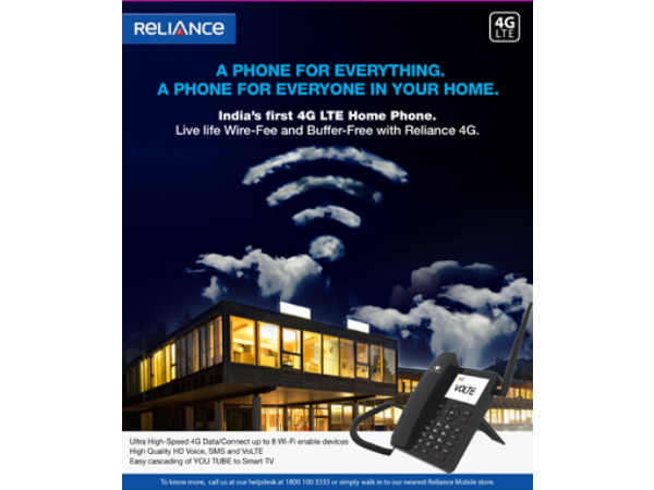 Reliance Communications Launches Android 4G VoLTE Fixed Wireless Phone