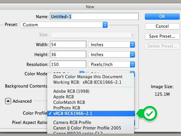 Convert Files to the sRGB Color Profile