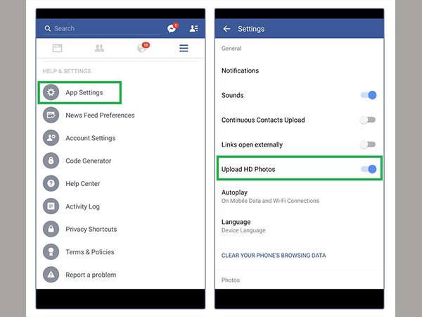 Change App Settings for iPhone and Android Devices