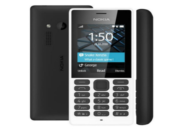 Nokia 150 and Nokia 150 Dual-SIM Phones Launched at Rs 1,700