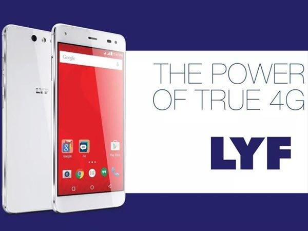 Reliance Jio Starts Selling LYF Smartphones on its E-commerce Store