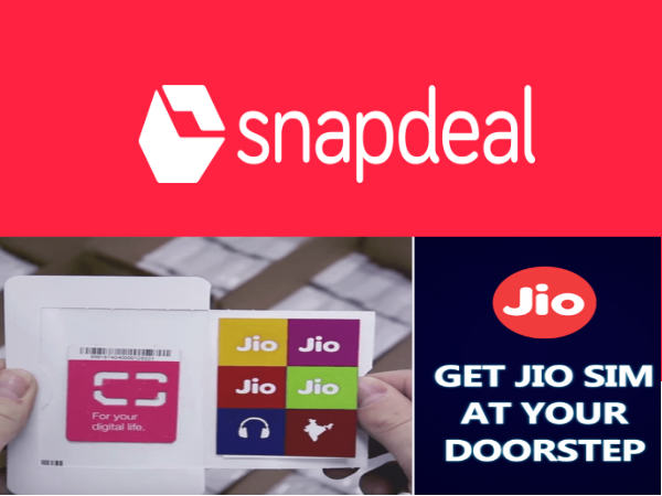 Snapdeal Will Soon Deliver Reliance Jio SIM Cards