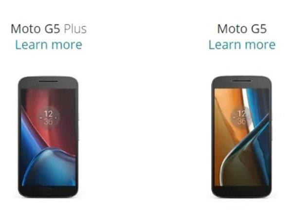 Motorola Moto G5, G5 Plus Key Specs and Launch Date Hit the Web