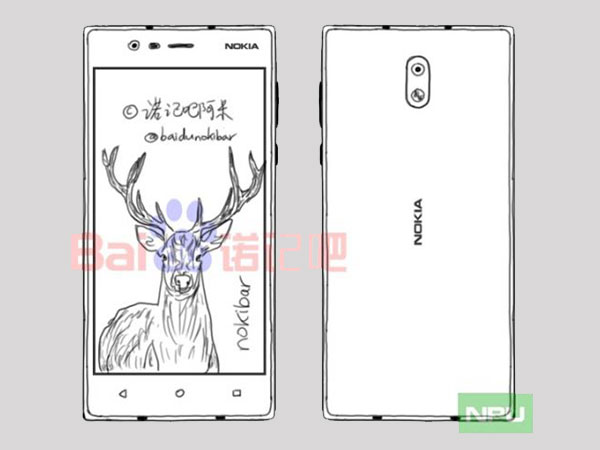 Nokia E1 and Nokia D1 Sketched Images Leak Online