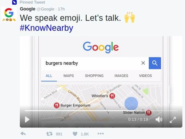 Here's How to Locate Nearby Restaurants, and More By Tweeting Emojis