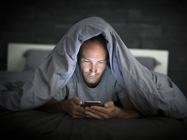 So, avoiding phone before bed-time helps?