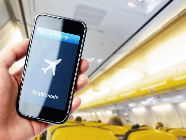 Turn on Airplane mode even if you aren't on board