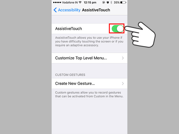 How to lock an Apple iPhone screen with a broken power button