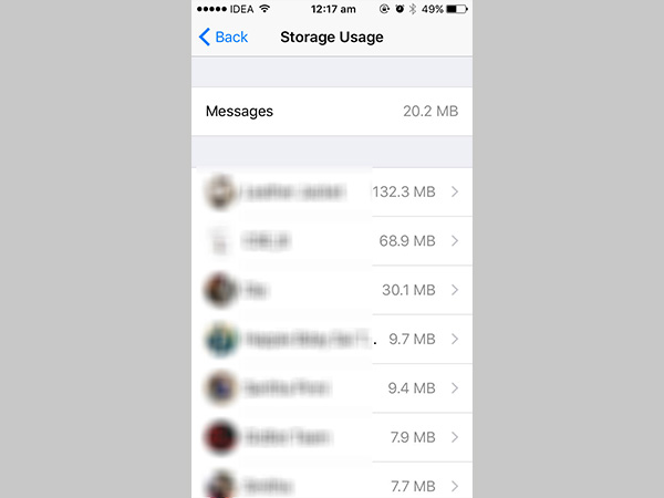 How to reduce WhatsApp storage on iPhone