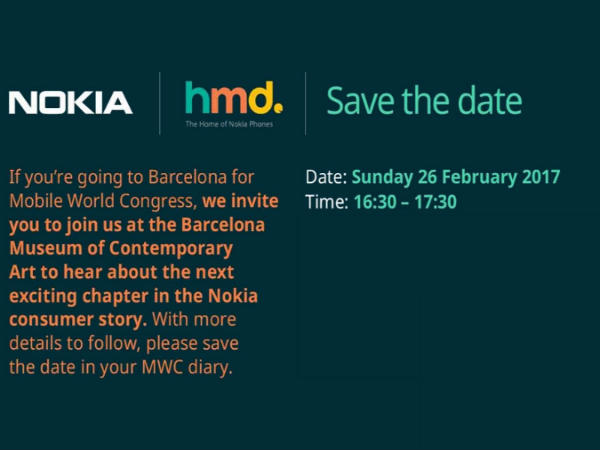 Nokia Android smartphones February 26 launch confirmed as HMD Global sends invites