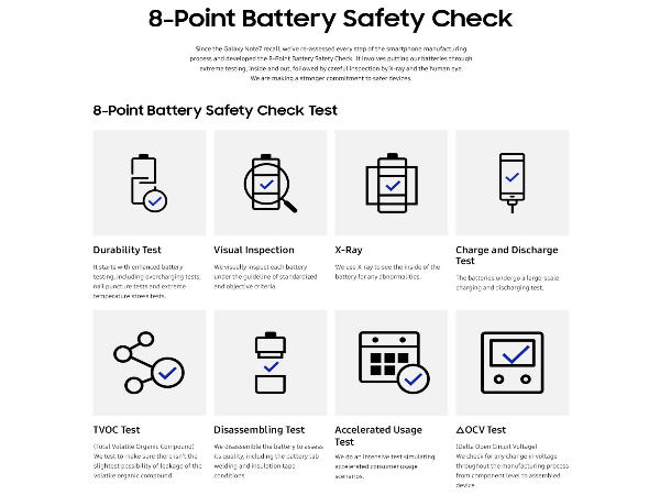 Samsung announces 8-Point Battery Safety Check for all new devices