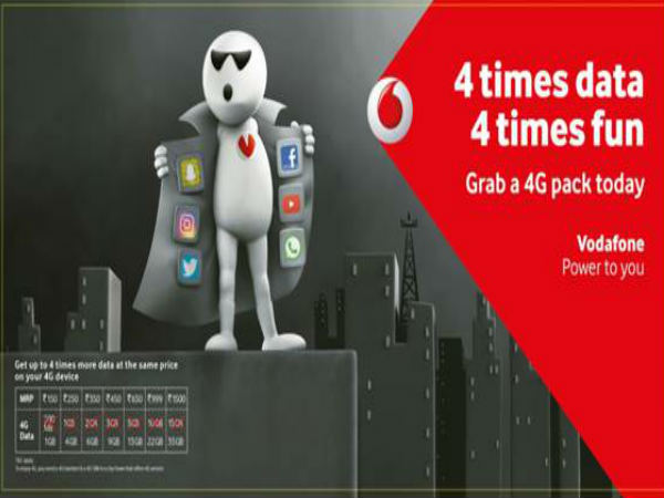 Vodafone launches Super 4G plan that offers 4 times more data