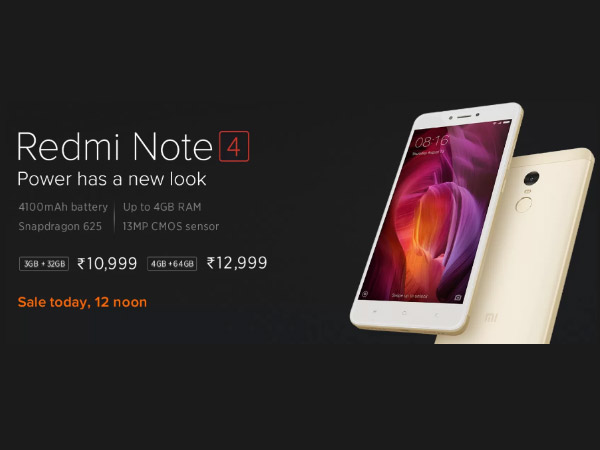 Xiaomi Redmi Note 4 goes out of stock on Flipkart in just 2 seconds
