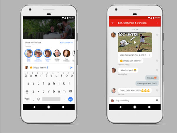 YouTube has just launched an in-app messaging service