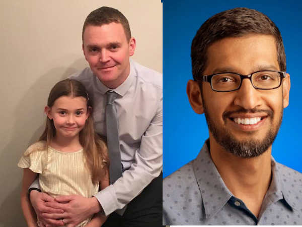 A 7-year old girl writes to Sundar Pichai seeking a job at Google