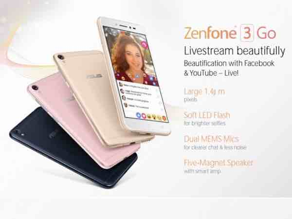 Asus ZenFone 3 Go press renders with alleged price details leaked