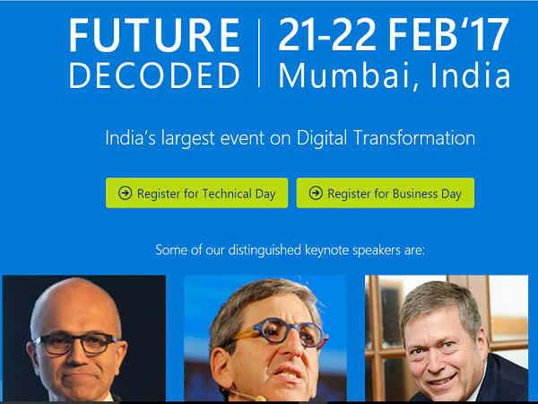 GizBot live from Microsoft Future Decoded 2017, Mumbai (Live Blog)